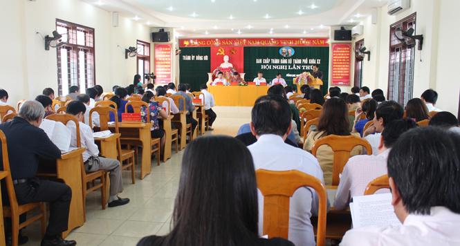 Thành ủy Đồng Hới triển khai nhiệm vụ quý II- 2016