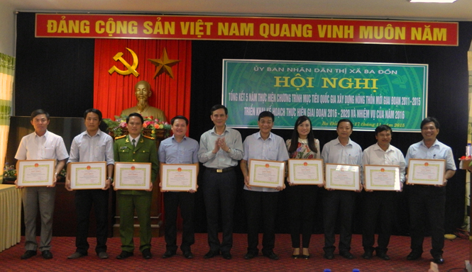 Thị xã Ba Đồn: Tổng kết Chương trình MTQG xây dựng nông thôn mới giai đoạn 2011-2015