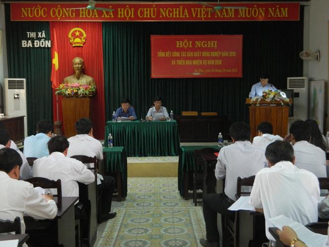 Thị xã Ba Đồn: Tổng kết sản xuất nông nghiệp năm 2015