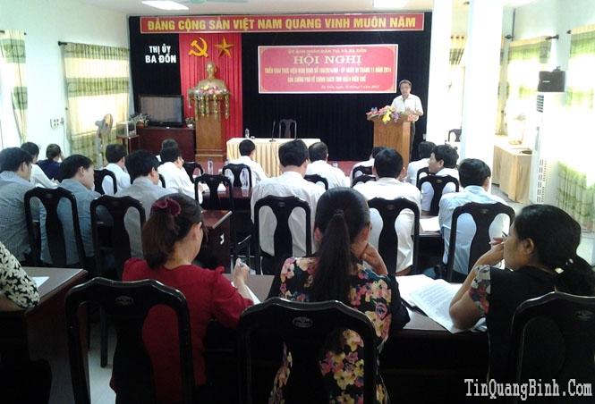 Thị xã Ba Đồn: Triển khai thực hiện Nghị định số 108/2014/NĐ-CP của Chính phủ về chính sách tinh giản biên chế