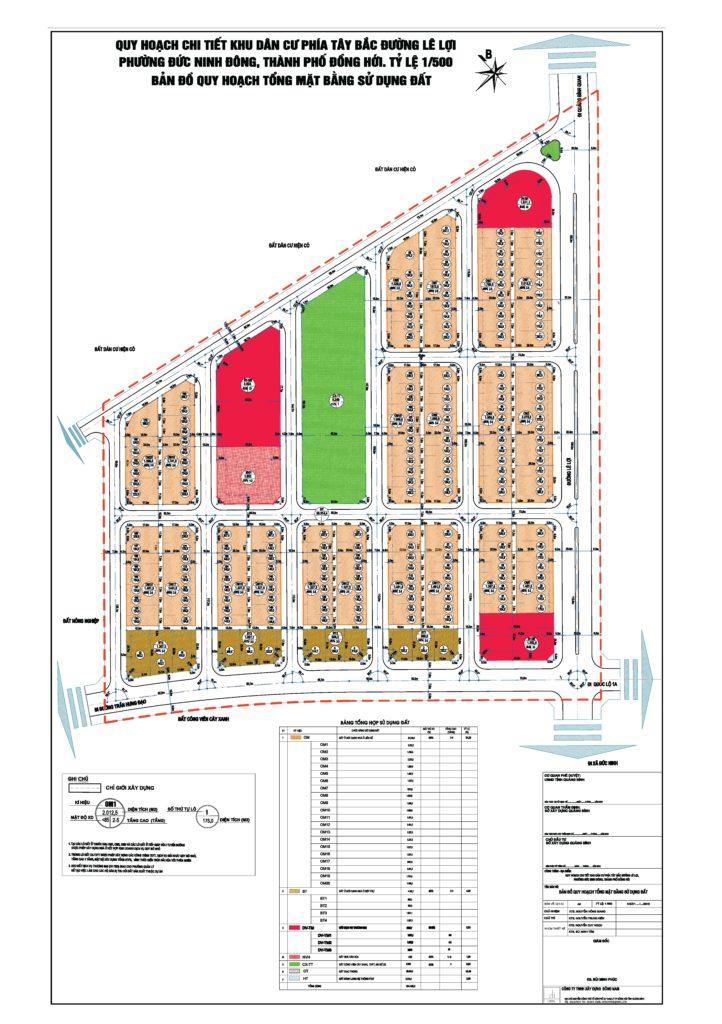 Thông báo bán đấu giá đất quyền sử dụng đất Khu dân cư phía Tây Bắc đường Lê Lợi (Đồng Hới)