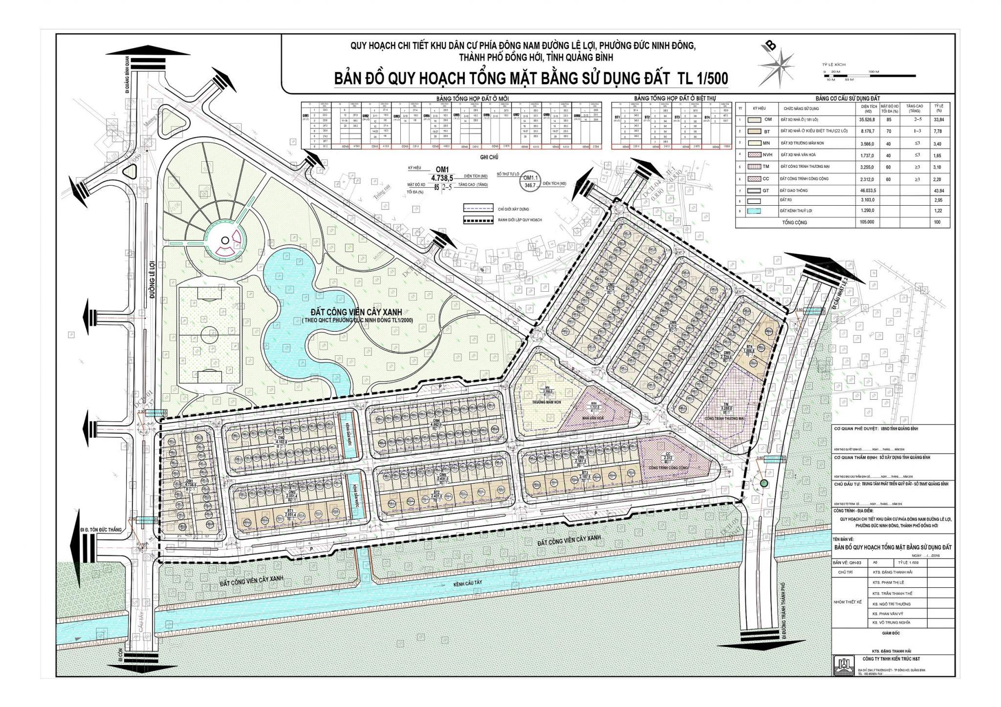 Thông báo đấu giá 3 thửa đất ở thuộc Dự án Khu dân cư phía Đông Nam đường Lê Lợi, phường Đức Ninh Đông, Đồng Hới