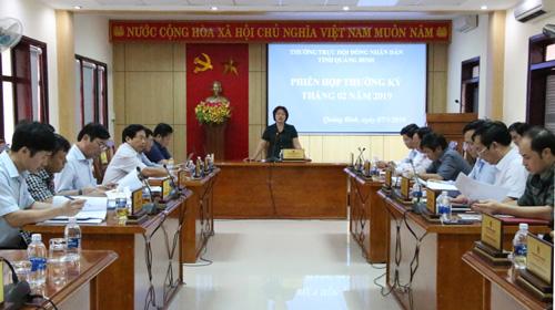 Thường trực HĐND tỉnh tổ chức phiên họp thường kỳ tháng 02/2019