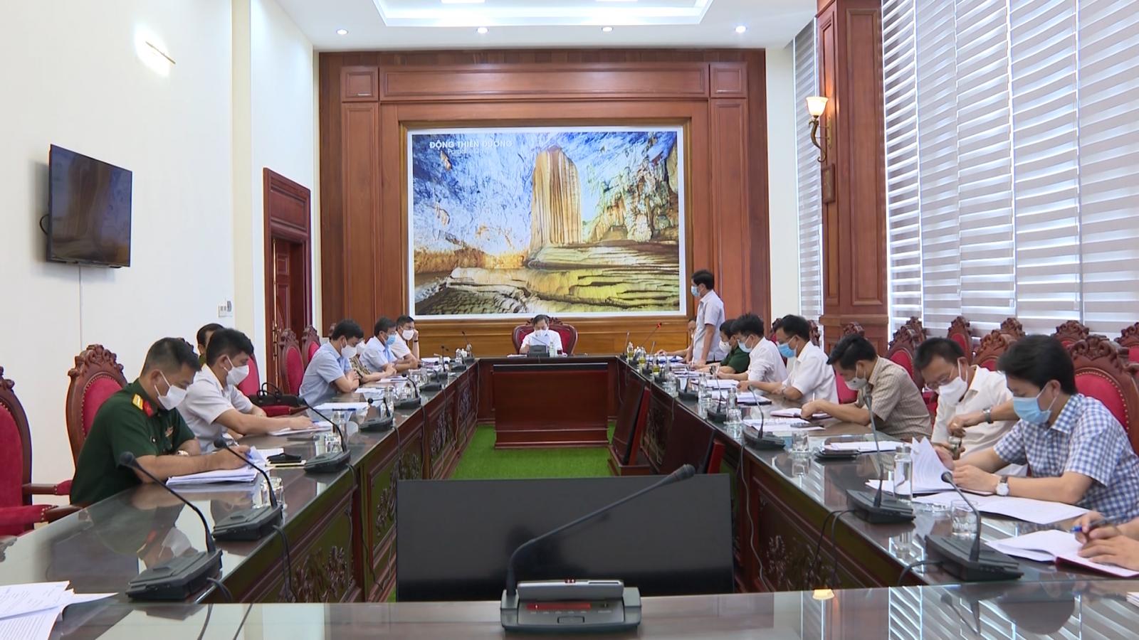 Thường trực Tỉnh ủy cho ý kiến về công tác phòng, chống dịch Covid-19