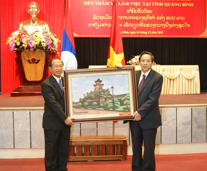 Thường trực Tỉnh ủy tiếp và làm việc với Đoàn công tác Bộ Tư pháp nước CHDCND Lào