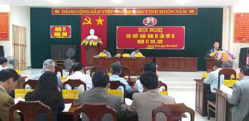 Tổ chức hội nghị Ban Chấp hành Đảng bộ huyện lần thứ 28