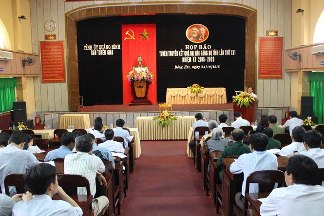 Tổ chức họp báo tuyên truyền kết quả Đại hội Đảng bộ tỉnh lần thứ XVI, nhiệm kỳ 2015-2020