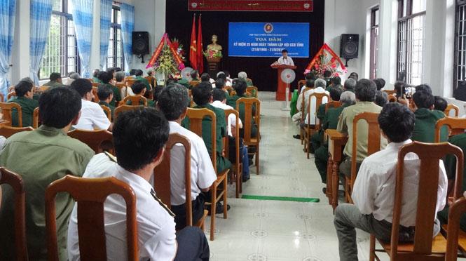 Tọa đàm kỷ niệm 25 năm thành lập Hội Cựu chiến binh tỉnh Quảng Bình