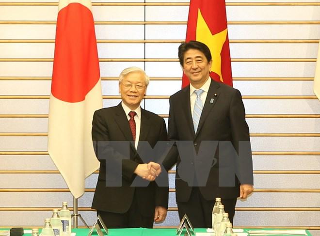 Tổng Bí thư gửi Điện cảm ơn Thủ tướng Nhật Bản Shinzo Abe