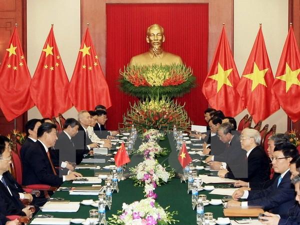 Tổng Bí thư Nguyễn Phú Trọng hội đàm với Tổng Bí thư, Chủ tịch nước Trung Quốc