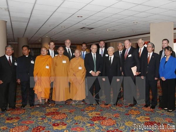 Tổng Bí thư Nguyễn Phú Trọng tiếp các lãnh đạo tôn giáo Hoa Kỳ