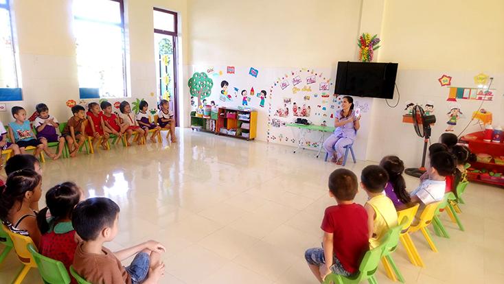 Trường mầm non Phong Thủy: Hết lo chạy lụt