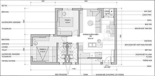 Tư vấn bố trí nội thất căn hộ 70m² với 2 phòng ngủ gọn thoáng và hợp phong thủy cho vợ chồng 8x