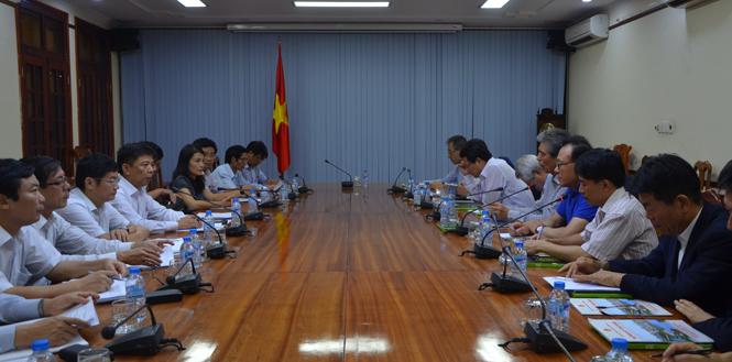 UBND tỉnh làm việc với đoàn doanh nghiệp Hàn Quốc