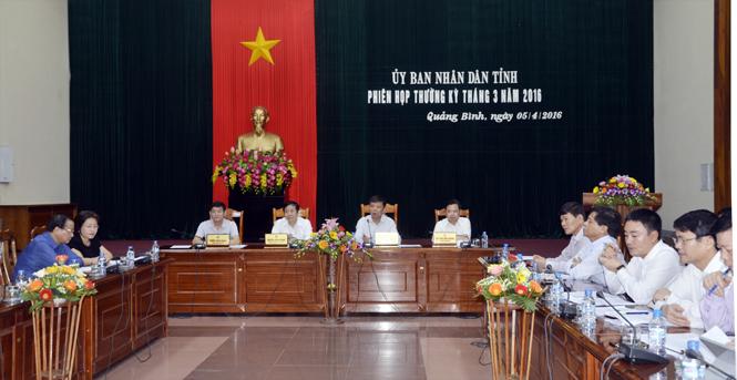 UBND tỉnh họp phiên thường kỳ tháng 3