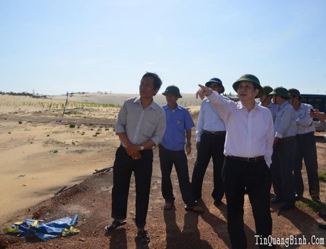UBND tỉnh kiểm tra các dự án khai thác titan tại xã Sen Thuỷ
