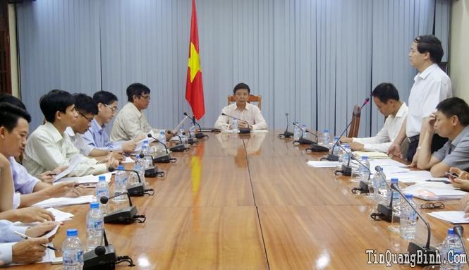 UBND tỉnh làm việc với Đoàn công tác của Bộ Xây dựng