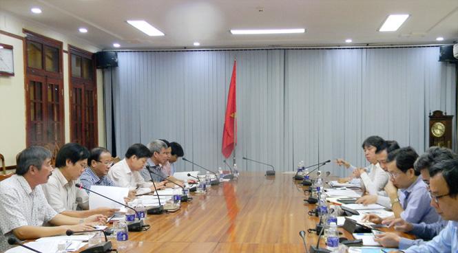 UBND tỉnh làm việc với Đoàn công tác của Tổng cục Thuỷ lợi