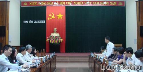 UBND tỉnh làm việc với đoàn công tác của Ủy ban Kinh tế Quốc hội