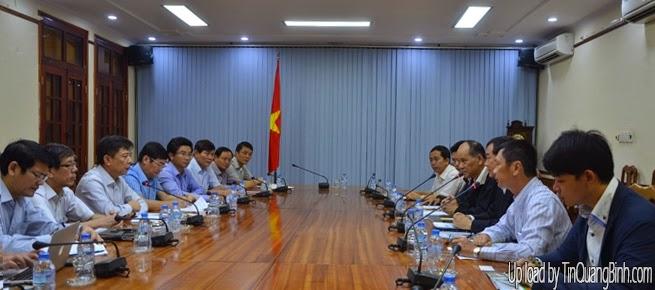 UBND tỉnh Quảng Bình làm việc với các nhà đầu tư trong và ngoài nước