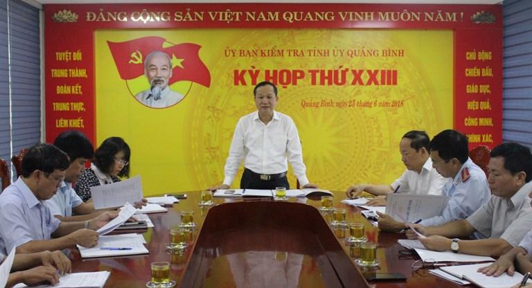 Uỷ ban Kiểm tra Tỉnh uỷ: Khiển trách ông Lê Khánh Hòa, Giám đốc Đài PT-TH Quảng Bình và ông Mai Song Toàn, Hạt trưởng Hạt Kiểm lâm TX Ba Đồn