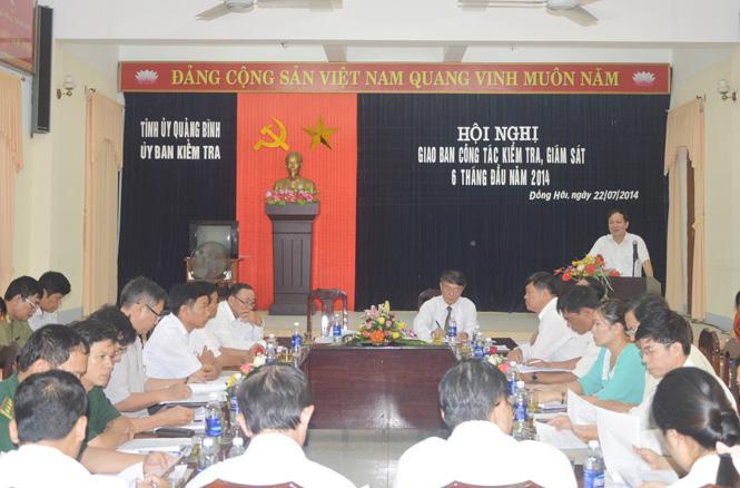 Ủy ban Kiểm tra Tỉnh ủy triển khai nhiệm vụ 6 tháng cuối năm 2014