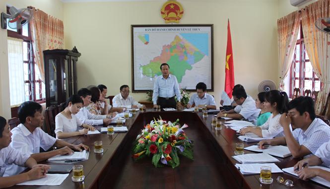 Ủy ban MTTQVN tỉnh: Giám sát việc triển khai thực hiện công tác bầu cử tại huyện Lệ Thuỷ