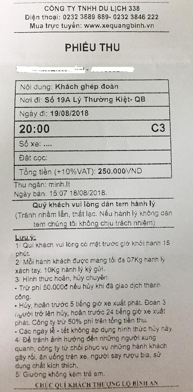 Văn phòng nhà xe Hưng Long bán vé lậu?