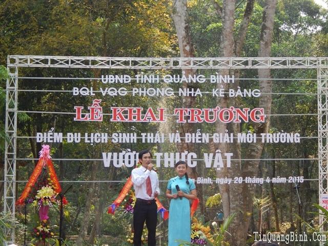 Vườn QG Phong Nha - Kẻ Bàng: Khai trương điểm du lịch sinh thái và diễn giải môi trường Vườn thực vật