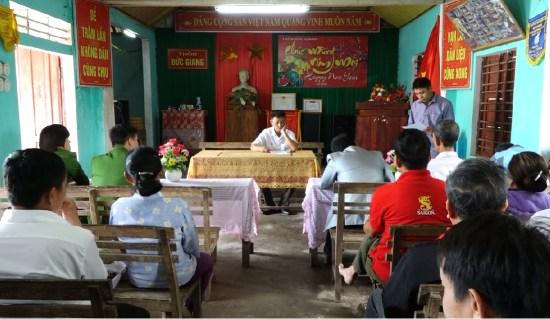 Xã Đức Ninh kiểm điểm đối tượng đốt pháo trái phép