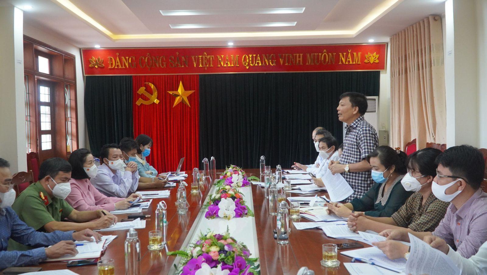 Đoàn ĐBQH tỉnh khảo sát tại Sở Lao động - Thương binh và Xã hội