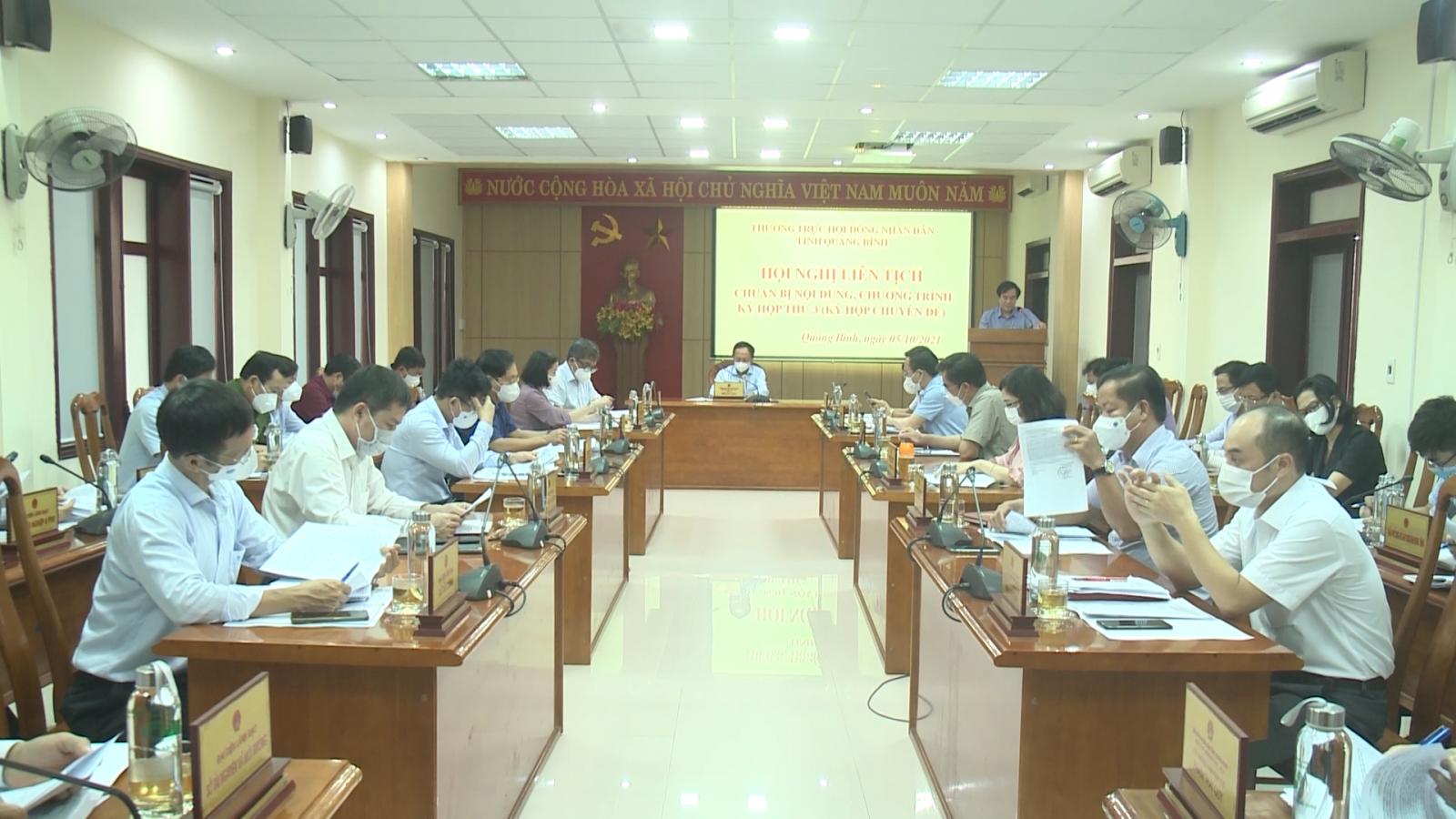 Hội nghị liên tịch chuẩn bị kỳ họp thứ 3, HĐND tỉnh khóa XVIII